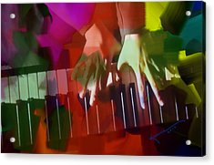Colors Of Music Acrylic Print by Kume Bryant