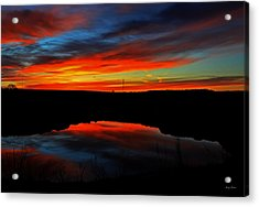 Colors Of Nature- Sunrise 002 Acrylic Print by George Bostian