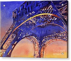Colors Of Paris- Eiffel Tower Acrylic Print by Ryan Fox