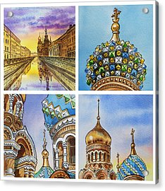 Colors Of Russia Church Of Our Savior On The Spilled Blood  Acrylic Print by Irina Sztukowski