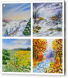 Colors Of Russia Four Seasons Acrylic Print by Irina Sztukowski