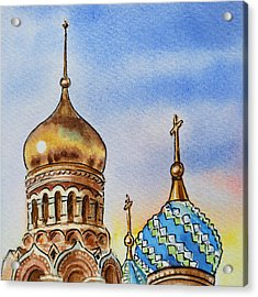 Colors Of Russia St Petersburg Cathedral Iv Acrylic Print