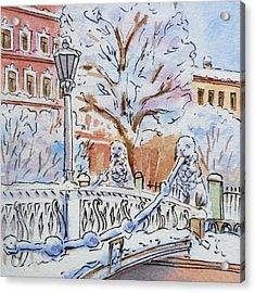 Colors Of Russia Winter In Saint Petersburg Acrylic Print