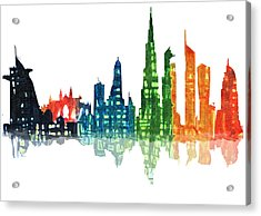 Colors Of The City Acrylic Print
