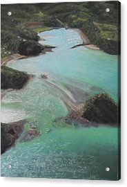 Acrylic Print featuring the pastel Colors Of Tutukaka by Serena Dawson