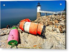 Colors On The Rocks Acrylic Print by Adam Jewell