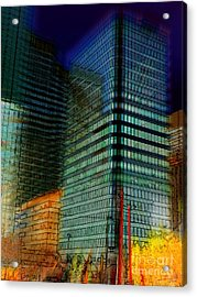 Acrylic Print featuring the digital art Colors by Stuart Turnbull