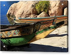 Acrylic Print featuring the photograph Colorul Canoe by Chris Thomas