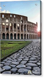 Coloseum Sunrise Acrylic Print by Victor Walsh Photography