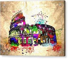 Colosseo Grunge  Acrylic Print by Daniel Janda
