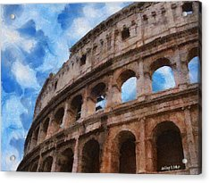 Colosseo Acrylic Print by Jeff Kolker