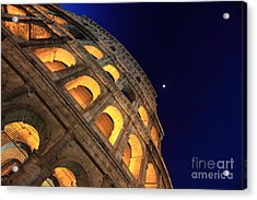 Colosseum At Night Acrylic Print by Stefano Senise