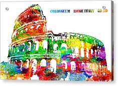 Colosseum Rome Italy Acrylic Print