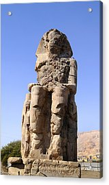 Colossus Of Memnon Egypt Acrylic Print by Brenda Kean