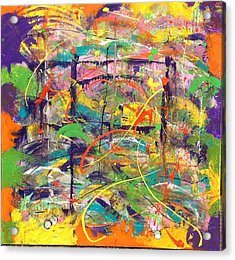 Colour Bazaar Acrylic Print by Judi Goodwin