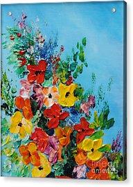 Colour Of Spring Acrylic Print by Teresa Wegrzyn