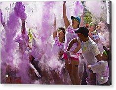 Colour Purple  Acrylic Print by Debbie Cundy