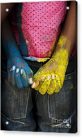 Coloured Hands Acrylic Print by Tim Gainey