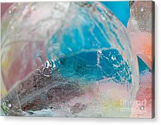 Coloured Ice Creation Print #4 Acrylic Print by Nina Silver