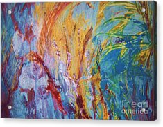 Colourful Abstract Acrylic Print by Ann Fellows