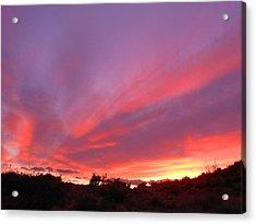 Colourful Arizona Sunset Acrylic Print