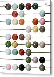 Colourful Beads On Metal Rods Acrylic Print