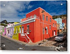 colourful buildings in Bo-Kaap Acrylic Print by Juergen Ritterbach