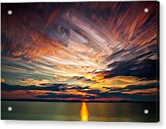 Colourful Cloud Collision Acrylic Print