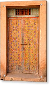 Colourful Entrance Door Sale Rabat Morocco Acrylic Print by Ralph A  Ledergerber-Photography