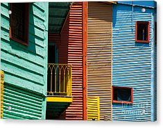 Colourful Houses In The Colourful Quarter Of La Boca - Buenos Air Acrylic Print by OUAP Photography