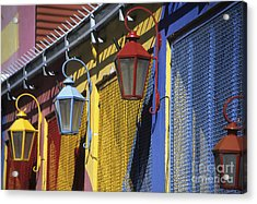 Colourful Lamps La Boca Buenos Aires Acrylic Print by James Brunker