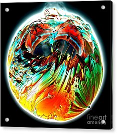 Colourful Planet Acrylic Print by Bernard MICHEL