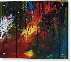 Colourful Tears Acrylic Print by Shakhenabat Kasana