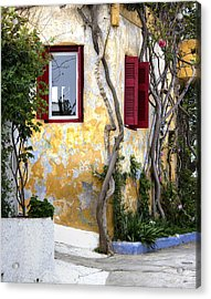 Colourfull Cottage Acrylic Print