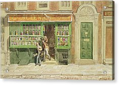 Colourmans Shop, St Martins Lane, 1829 Wc On Paper Acrylic Print by George the Elder Scharf