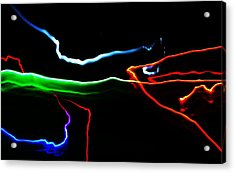 Acrylic Print featuring the digital art Colours At Midnight... by Al Fritz