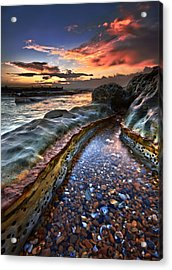 Colours Of Dawn Acrylic Print by Mark Leader