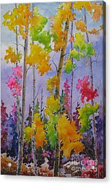 Colours Of Fall Acrylic Print by Mohamed Hirji