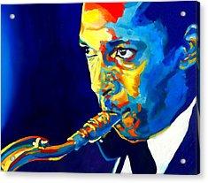 Coltrane-blu Acrylic Print by Vel Verrept