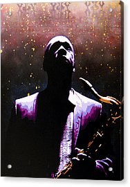 Coltrane II - Coltrane Harder Acrylic Print by Bobby Zeik