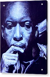 Coltrane Acrylic Print by Mike Underwood
