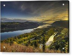 Columbia River Gorge At Sunrise Acrylic Print