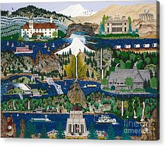 Columbia River Gorge Acrylic Print by Jennifer Lake