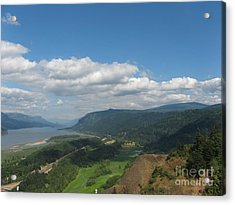 Columbia River Gorge Acrylic Print by Marlene Rose Besso