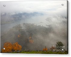 Columbia River Hidden Acrylic Print by Mike  Dawson