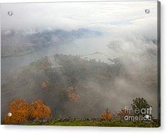 Columbia River Hidden Acrylic Print by Mike  Dawson