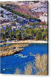Columbia River Rapids Acrylic Print