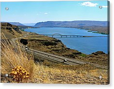 Columbia River Vantage Point Acrylic Print