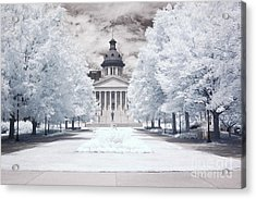 Columbia South Carolina Infrared Landscape  Acrylic Print by Kathy Fornal