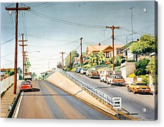Columbia Street Middletown Acrylic Print by Mary Helmreich